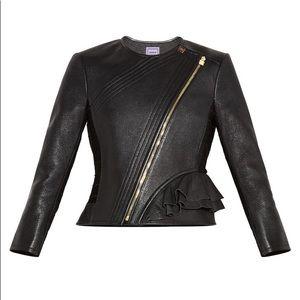 Herve Leger Mila Black Leather Jacket - S